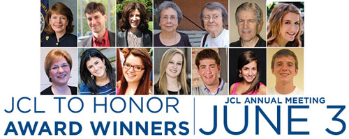 JCL TO HONOR AWARD WINNERS JUNE 3