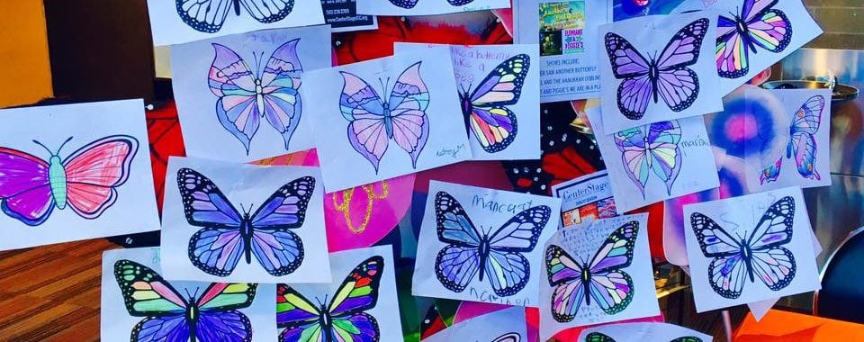 Children Color Butterflies for Muhammad Ali, Holocaust Victims