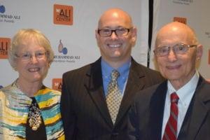 Kentucky Humanitarian Award winner John Rosenberg, right, with his wife, Jean, and son, Michael